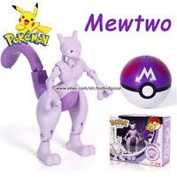 Pokemon Mewtwo Poké Ball Deformation Doll Action Figure Gift Child Kid Toy New