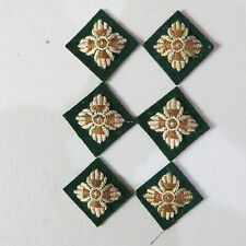 6 British Army Intelligence Corps Captain Rank pips / stars Dark Green backing