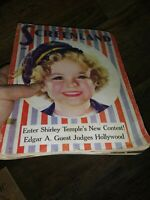 SHIRLEY TEMPLE COLLECTORS LOT Scrap Book Clippings Vintage Books DVD's  1930'S