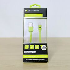 Authentic MFI USB to 8-Pin Lightning Flat Tangle Free Cable iPhone iPad Green