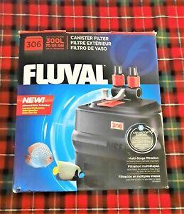 Fluval 306 External Canister Filter Aquarium Water Filtration Fresh or Salt