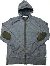 Mens Ted Baker Hoodie 'BELLBOY' Full Length Zipper Grey Size 5 - XL
