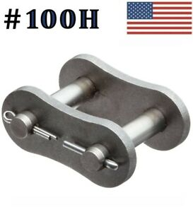 """#100H Connecting Link ( 5 pack) #100 Heavy roller chain 1 1/4"""" Pitch Master Link"""