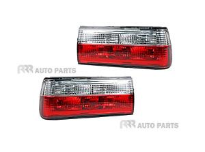 FOR BMW 3 Series E30 MK1 83-87 TAIL LIGHT, DIAMOND CLEAR LIGHTS - PAIR (LH+RH)