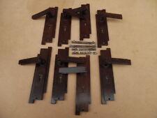 4 PAIRS OF ORIGINAL ART DECO BAKELITE DOOR KNOBS + DOOR PLATES POLISHED