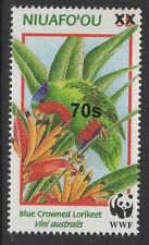 TONGA SG1616 2010 70s on 55s BLUE CROWNED LORIKEET MNH