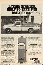 Original 1976 Datsun Lil Hustler Pickup Magazine Ad
