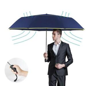 Umbrella 120CM Automatic Double Rain Wind Resistant 3 Folding Women Men Travel