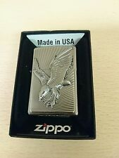 zippo lighter 3d Eagle emblem new with lifetime garenteed