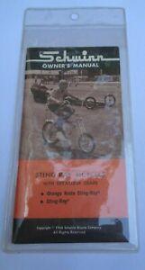 SCHWINN 1960's - 1970's Bicycle Owners Manual Sleeve * NOS * Bike Original