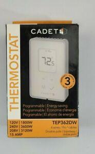 Cadet 3600-Watt Programmable Electronic Thermostat TEP362DW