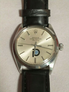 Vintage Rolex Air-King 5500 Pool Intairdril Logo Dial 34mm Mens Stainless Steel