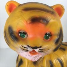 Edward Mobley Arrow Rubber 1965 Stripes Friendly Tiger Glass Eyes Squeak Toy Vtg