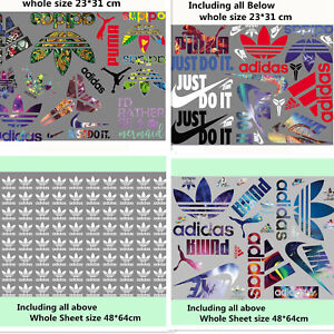 Whole sheet Lots mixed Sports Logo Heat Transfer Iron on Patches DIY for Cloth