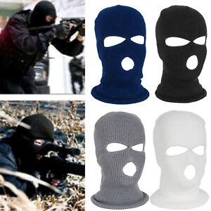 3 Hole Balaclava Beanie Hats Outdoor Full Face Mask Hood Warm Tactical Hat Caps