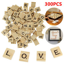 300 Scrabble Wood Tiles Pieces Full Sets 100 Letters Wooden Replacement Pick