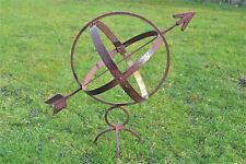 More details for antique style iron and brass armillary sphere garden ornament