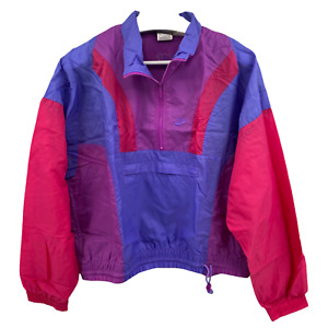Vintage Nike Windbreaker Pullover Anorak Embroidered Size Adult Large 90's