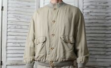 Ermenegildo Zegna Cotton Bomber Harrington Jacket Beige - Size S/M