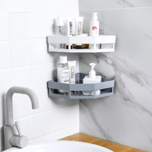 2PK Shower Caddy Corner Storage Shelf Holder Rack Organiser Bathroom Adhesive