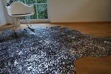 Kuhfell Cowhide Metallic schwarz, braun und Silber, ca. 210 x 195cm, NEU, RUG
