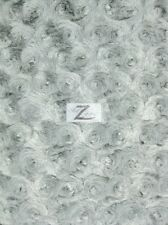 ROSE/ROSETTE MINKY FABRIC - Wolf Gray - BY THE YARD BABY SOFT FUR BLANKET DECOR