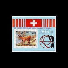 NICARAGUA, Sc #C1040, MNH, 1983, S/S, Animals, Stamp Expo, 5ASI