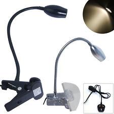 3/2/1x LED Desk Lamp Clip-On Bed Night Lamp Flexible Reading Light Black Sliver