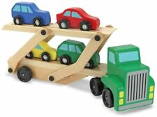 Melissa & Doug CAR TRANSPORTER Baby/Toddler Wooden Toy Vehicle/Truck/Lorry BN
