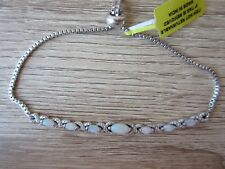 Australian White Opal Bracelet Platinum Bond Brass Magic Ball