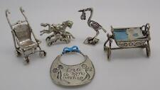 58g JOB LOT - Vintage Silver 5 x Italian Miniatures - Children Collection #6