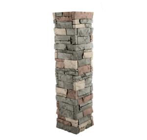 Stacked Stone 1-1/2 In. X 11-1/2 In. Stratford Faux Pillar Panel hidden Masonry