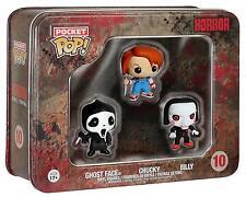 Funko Horror Pocket Pop Tin Set Chucky Ghost Face Scream Childs Play Chucky -NEW