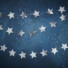 Silver Foil Star Garland - Gorgeous Christmas Decoration