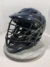 Cascade Pro7 Lacrosse Helmet~ Dark Blue Black + Chin Strap Adult Osfm