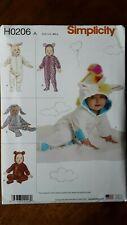 Simplicity Sewing Pattern ~ 8716 Para Niños Niños Disfraces De Peluche Animal Oso Kitty Perro