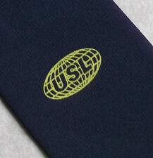 USL Cravate Corporate CLUB ASSOCIATION rétro vintage bleu marine vintage 1970 s 1980 S