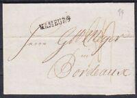 Vorphila Hamburg Brief 1799 mit L1 nach Bordeaux Frankreich mit Inhalt