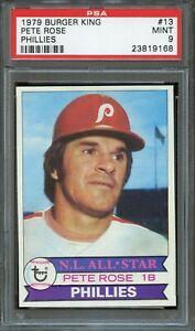 1979 Topps Burger King Phillies #13 Pete Rose PSA 9