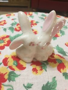Vintage Kissing Bunnies, Marked Elsa