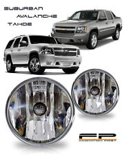 07-13 Chevy Suburban Tahoe Avalanche Replacement Fog Lights Housing Clear +Bulbs