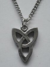 Chain Necklace #2442 Pewter CELTIC TRIPLE KNOT (17mm x 12mm)