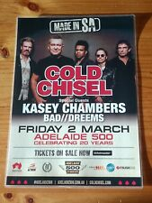 COLD CHISEL - ADELAIDE CLIPSAL 500 -  AUSTRALIA - Laminated Tour Poster