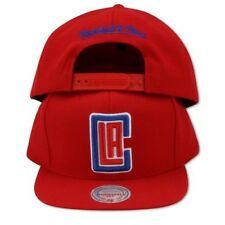 Los Angeles LA Clippers NBA Mitchell & Ness Logo Snapback Hat Cap Red