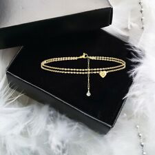 Adjustable Gold Infinity Love Heart Initial Letter Chain Lady Anklet Bracelet