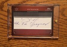 2009 Topps Sterling Pie Traynor # 1/2 Cut Auto Autograph Pirates HOF Awesome