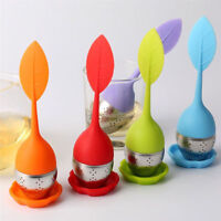 1pc Tea Infuser Loose Tea Leaf Strainer Herbal Spice Silicone Filter Diffuser