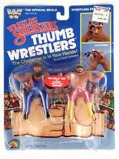 1986 LJN WWF Wrestling Superstars Macho Man vs Hilbilly Jim Thumbwrestlers MOC