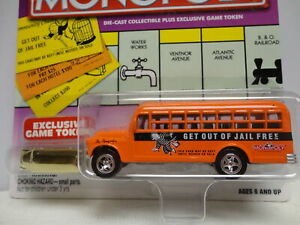 Johnny Lightning '56 CHEVY BUS Orange 1956 MONOPOLY Get Out of Jail Free