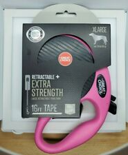 Great Choice Retractable+Extra Strength 16 ft Tape,XL Pink